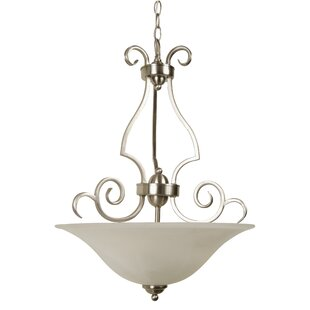 Alcott Hill Centreville Island 3-Light Bowl Pendant