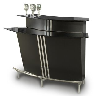 Broadway Bar with Wine Storage by Chintaly Imports