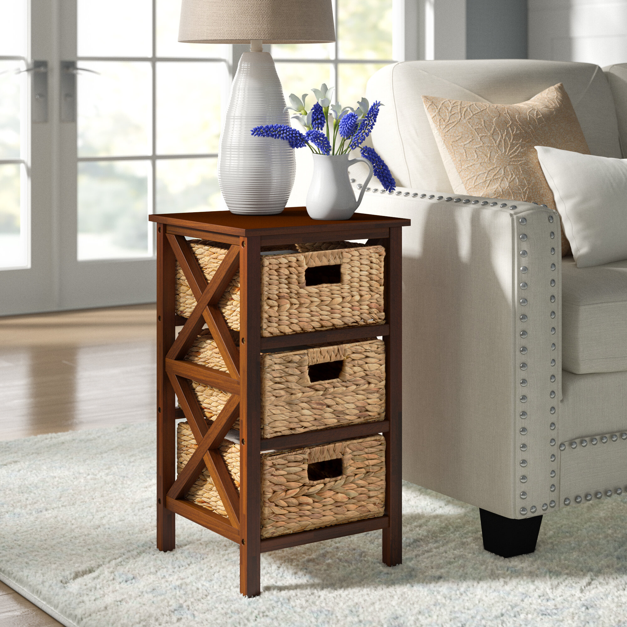 August Grove Altenpohl End Table With Storage Reviews Wayfair
