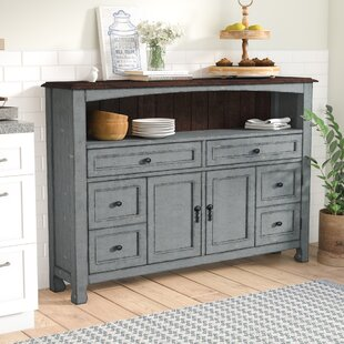 Laurel Foundry Modern Farmhouse Hawkeye Point Accent Cabinet with Wood Top