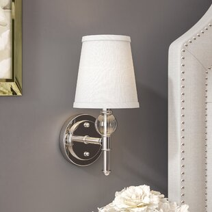 Top Reviews Agustine 1-Light Bath Sconce By House of Hampton