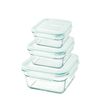 Square 3 Container Food Storage Set