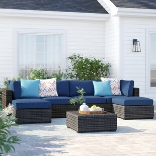 Barwick 7 Piece Sectional Set with Cushions by Sol 72 Outdoor