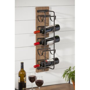 Pavadas 5 Bottle Wall Mounted Rack by Win..