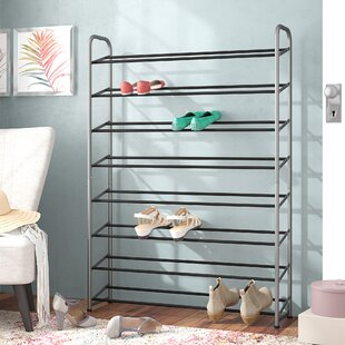 Reviews 8-Tier 40 Pair Shoe Rack By Rebrilliant