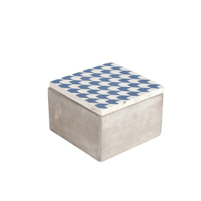 Bungalow Rose New Rockford Cement Decorative Box Size: 3.5 H x 5.25 W x 5.25 D