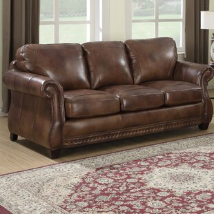 Beglin Cognac Leather Sofa by Darby Home Co Purchase
