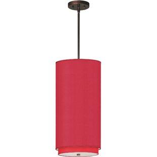 Denning 1-Light Cylinder Pendant by Bayou Breeze