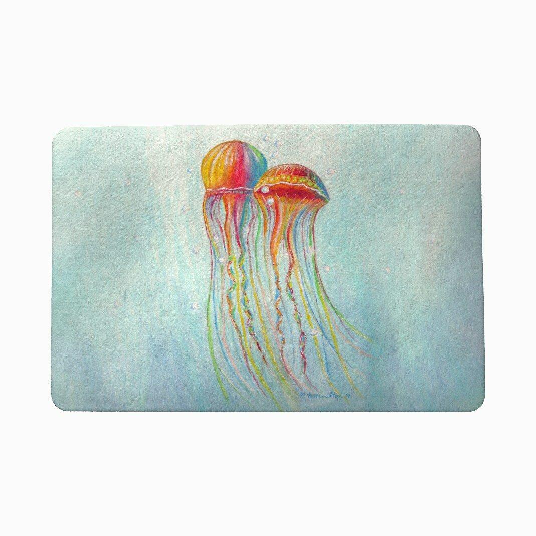 Highland Dunes Lofland Jellyfish 18 X 26 Non Slip Indoor Outdoor Door Mat Wayfair