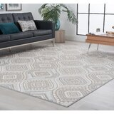 Pottsville Ivory/Red/Blue Area Rug by World Menagerie