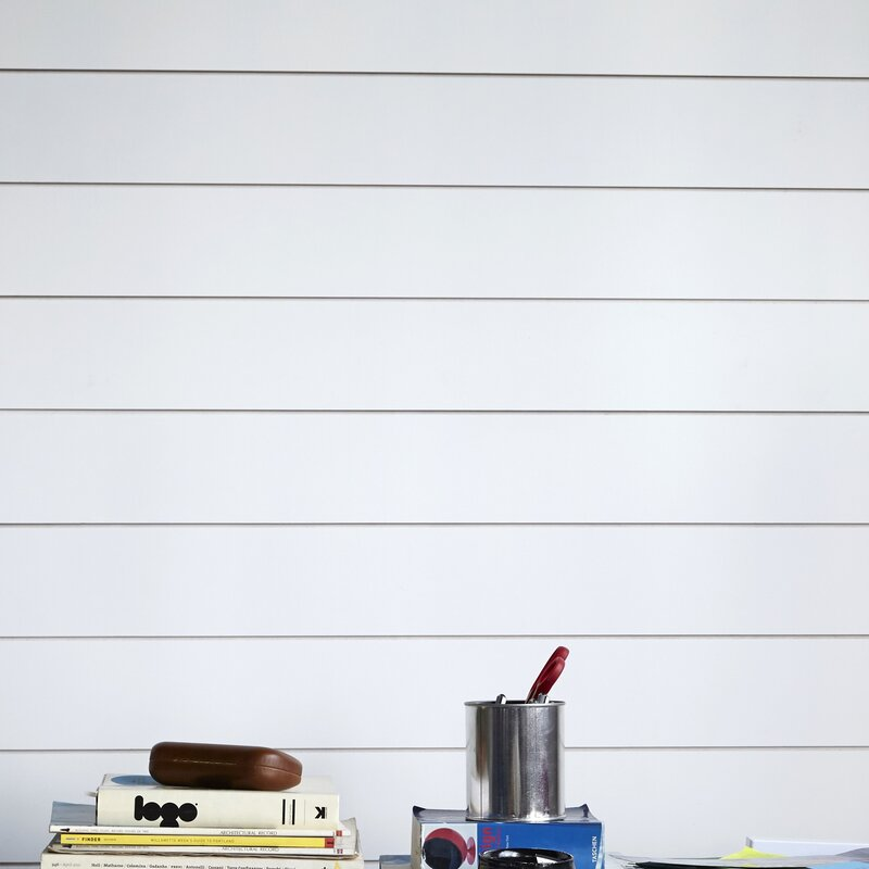 """Timeline Shiplap 5.5""""  Wall Paneling in White"""