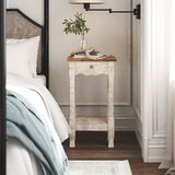 Audrey 1 - Drawer Solid Wood Nightstand by Kelly Clarkson Home