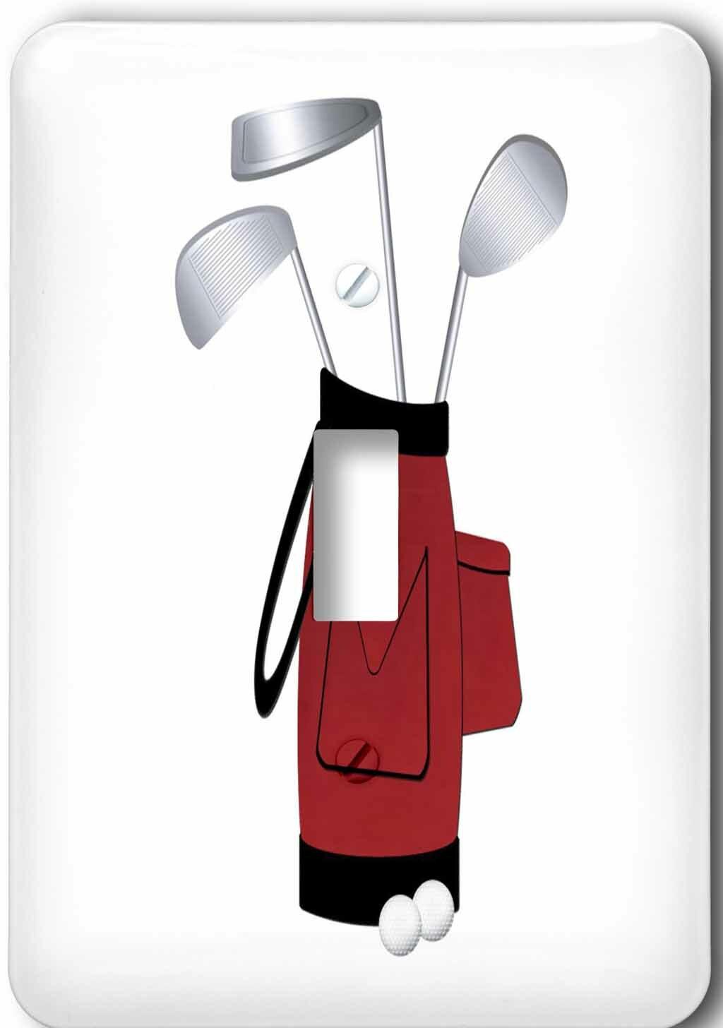 3drose Golf Bag 1 Gang Toggle Light Switch Wall Plate Wayfair