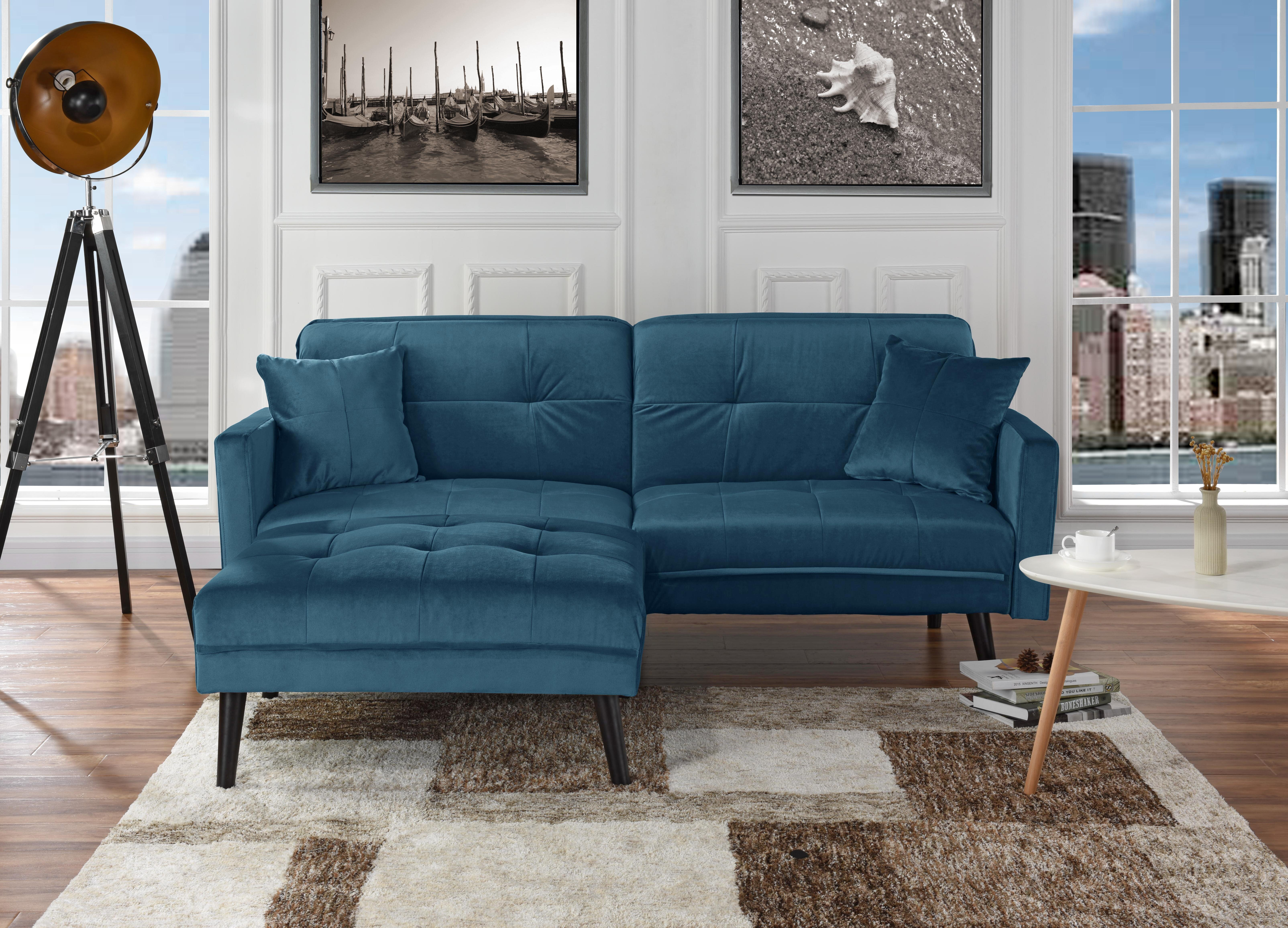 Navy Blue Sectional Couch Wayfair