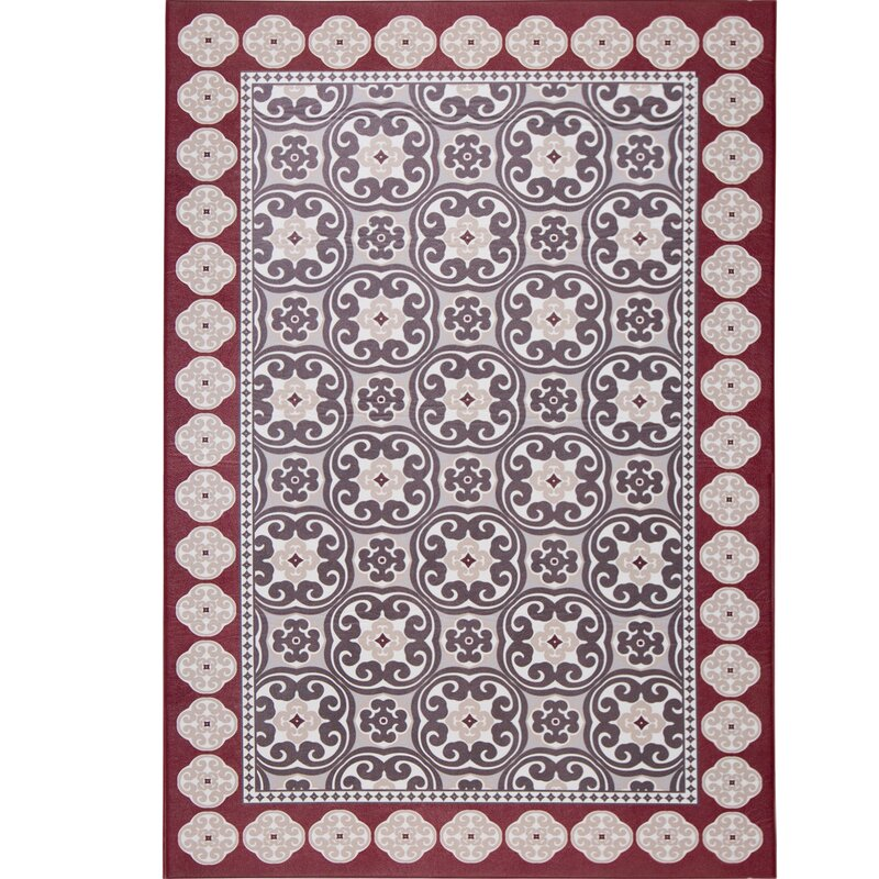 Calm Step Comfort Foam Redgray Area Rug Reviews Joss Main