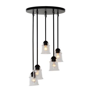 Gracie Oaks Pierro 5-Light Cluster Pendant