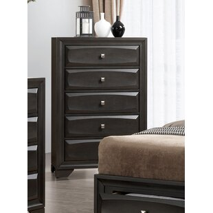 Alder Transitional 5 Drawer Chest