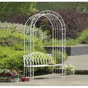 Ophelia & Co. Abbas Cast Iron Arch Garden Bench