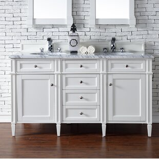 Ogallala 60 Double Cottage White Stone Top Bathroom Vanity Set by Greyleigh