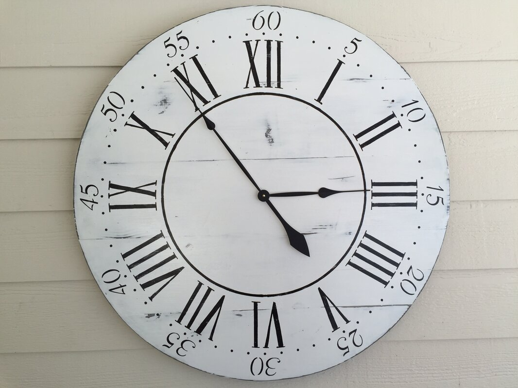 Essex hand crafted wood products oversized 36 chalkwell vintage oversized 36 chalkwell vintage style painted wood wall clock amipublicfo Gallery