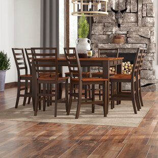 Hidalgo 9 Piece Counter Height Solid Wood Dining Set