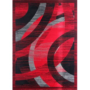 Great choice Barnsley Black/Red/Gray Area Rug By Orren Ellis
