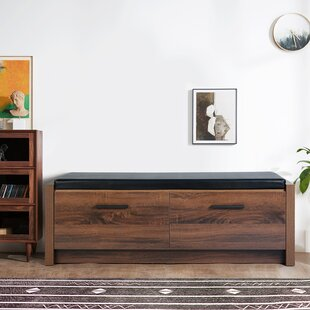 Lawrence Faux Leather Storage Bench by Wrought Studio