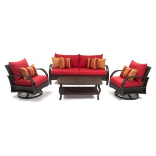 Cerralvo 4 Piece Sunbrella Sofa Seating Group with Cushions