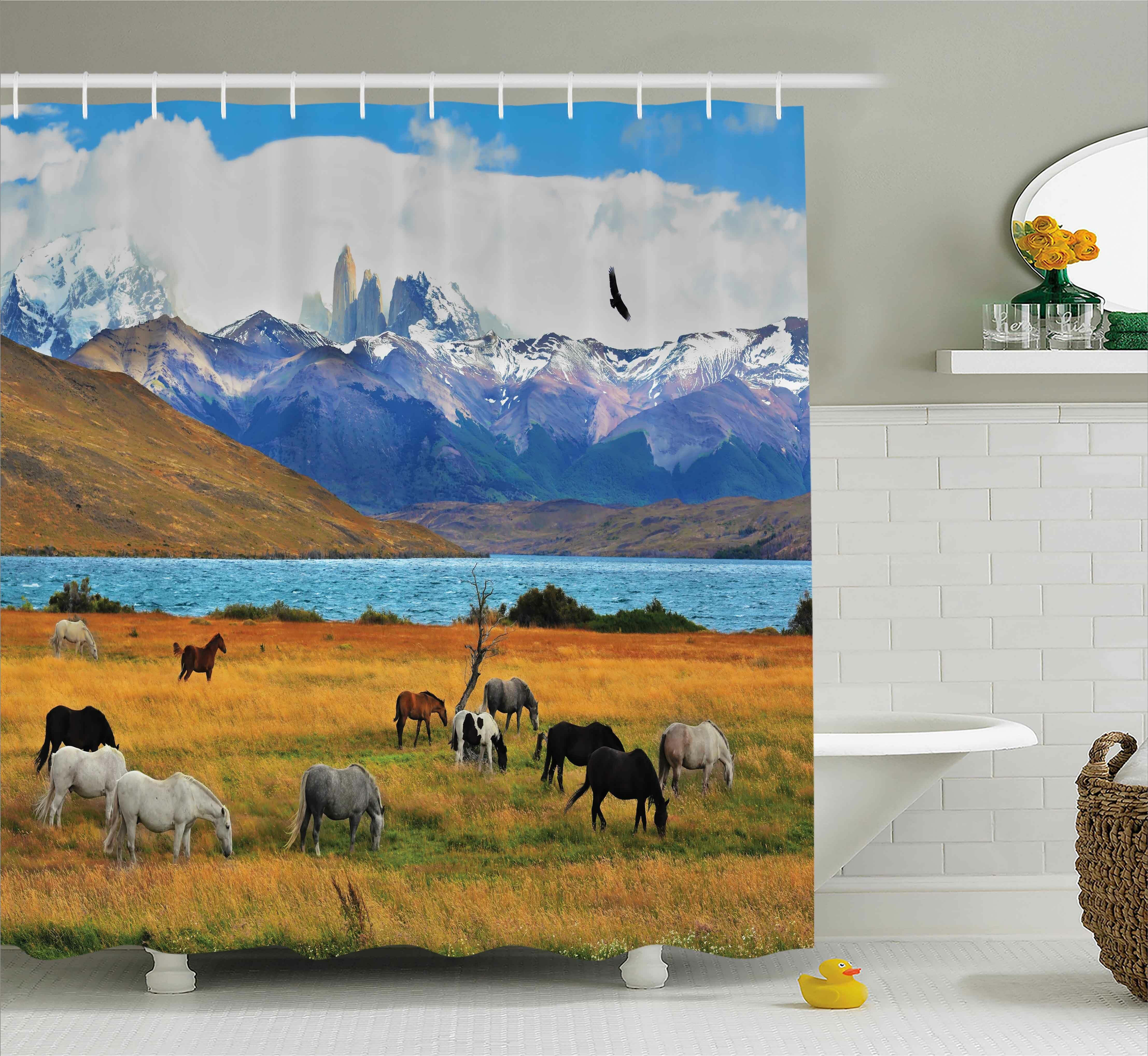 Higden Farm Horse Shower Curtain Hooks