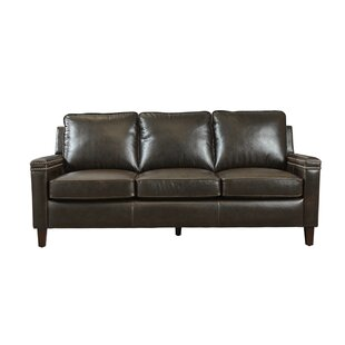 Klas Leather Sofa by 17 Stories