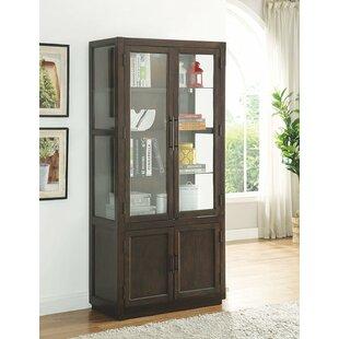 Gracie Oaks Chaunce Wooden Curio Cabinet