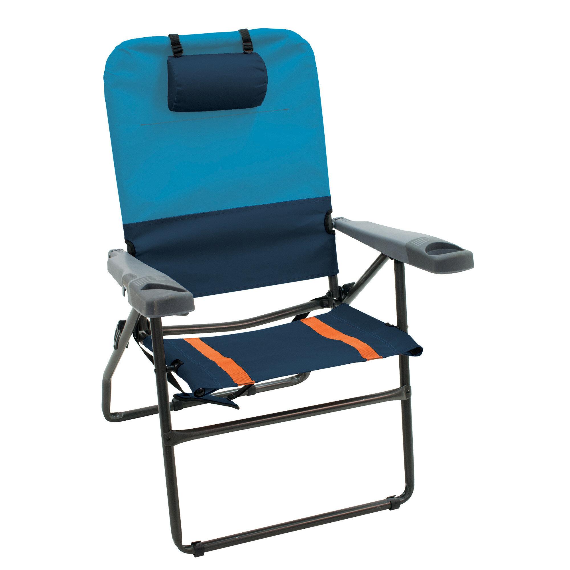 Arlmont Co Makenzie 4 Position Aluminum Reclining Beach Chair Reviews Wayfair