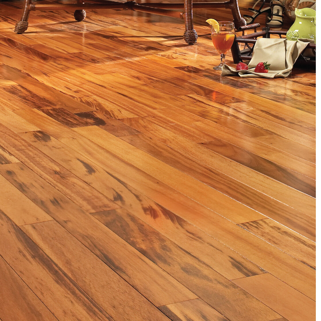 South American Legends Tigerwood 1 2 Thick X 5 Wide Varying Length Engineered Hardwood Flooring