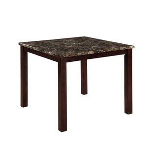 Fleur De Lis Living Colette Square Faux Marble Top Counter Height Dining Table