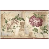 Shannon Flowers 15' L x 7 W Distressed Wallpaper Border by Ophelia & Co.
