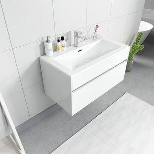 Canova 90mm Wall Hung Single Vanity Unit By Ebern Designs