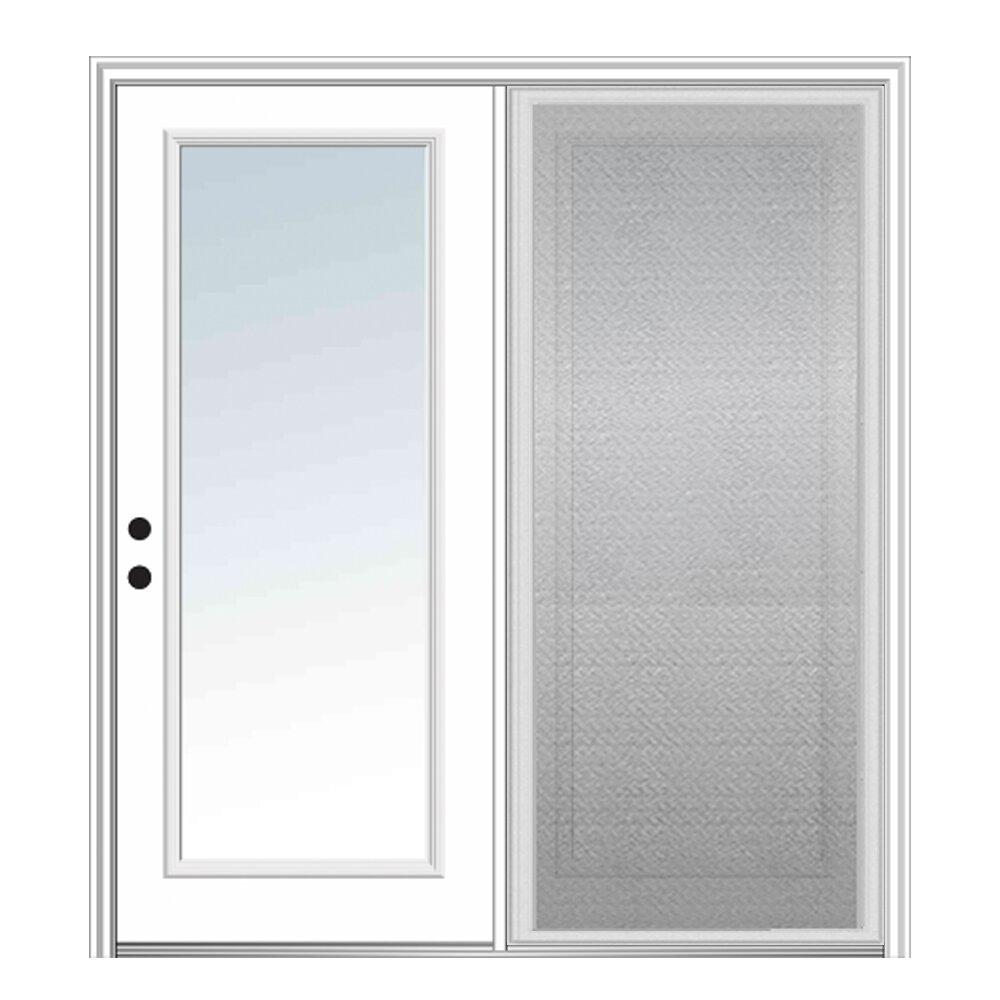 Verona Home Design Fiberglass Prehung Patio Door With Screen Wayfair