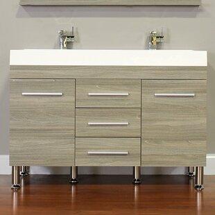 Reviews Waldwick 47 Double Bathroom Vanity Set ByWade Logan