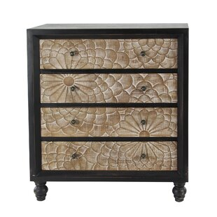 Hartl Wood 4 Drawer Accent Cabinet by Bungalow Rose