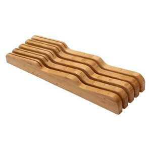 bamboo knife block in drawer