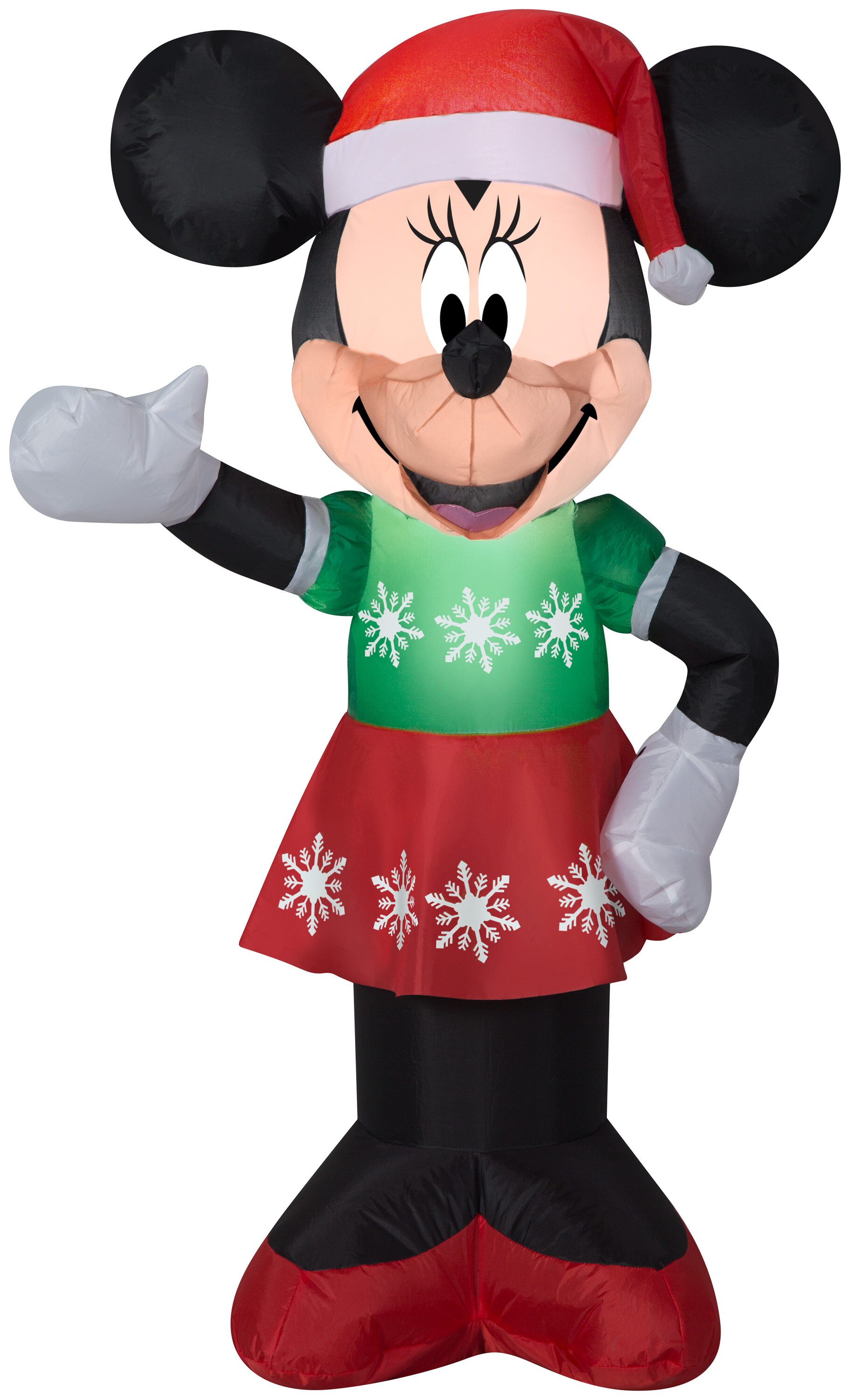 Airblown Minnie Mouse in Snowflake Dress Disney Christmas Inflatable