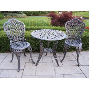 Oakland Living Tea Rose 3 Piece Bistro Set