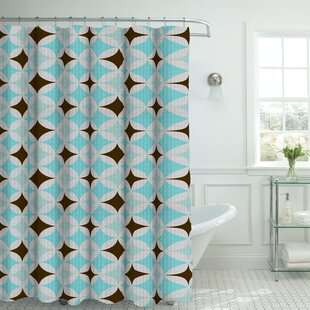 Oxford Fabric Weave Textured Geometric Shower Curtain Set by Bath Studio Great price