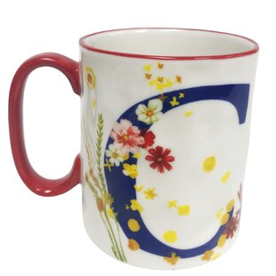 Erwin Floral 'C' Initial Coffee Mug
