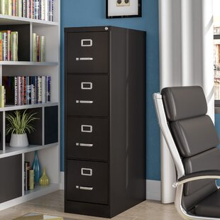 Jolene 4 Drawer Commercial Letter Size Vertical Filing Cabinet