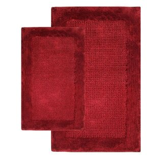Antoinette Contemporary 2 Piece Bath Rug Set by Symple Stuff #1