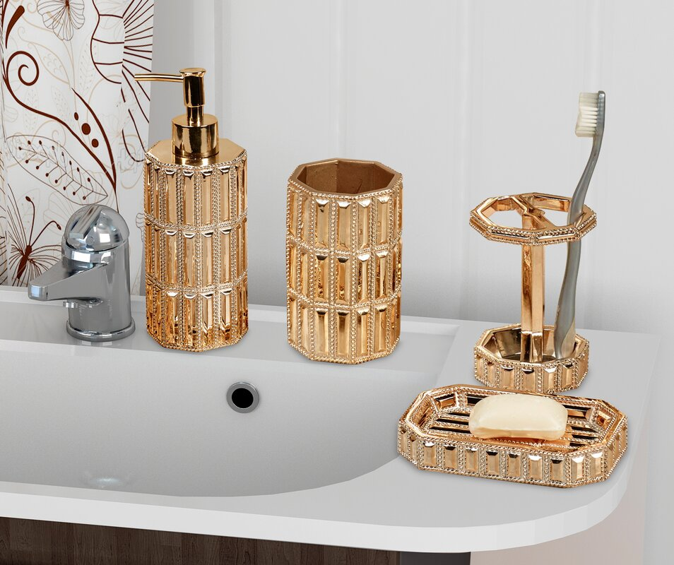 Ibarra 4-Piece Bathroom Accessory Set
