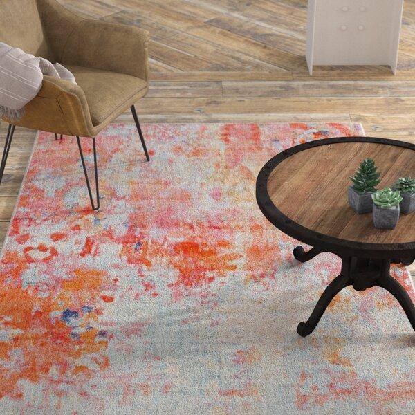 Williston Forge Montross Abstract Gray Orange Area Rug Reviews Wayfair