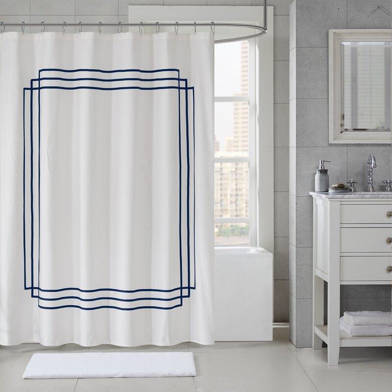 Elloy Cotton Applique Shower Curtain