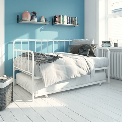 Mystic Daybed with Trundle Hashtag Home Size: Twin, Color: White